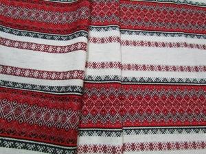 Ткань узорная ЛАДУШКА красная с чёрным