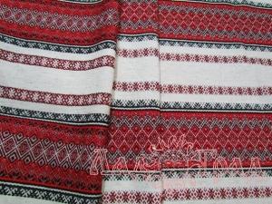 Ткань узорная Ладушка красная с чёрным_1