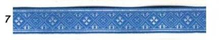 "Лента отд. жаккард ""Засеянное поле"" 6714-7, синяя, 18 мм"