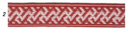"""Лента отд. """"Коники"""" 9353-2, бел. на красном, 25 мм"""