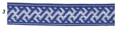 """Лента отд. """"Коники"""" 9353-3, бел. на синем, 25 мм"""
