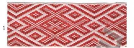 """Лента отд. """"Славянский Оберег"""" 9341-1, красный на белом, 65 мм"""