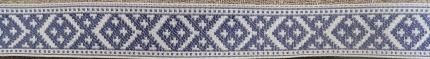 """Лента отд. """"Славянский Орнамент"""" 9322-3, син. на белом, 24 мм"""
