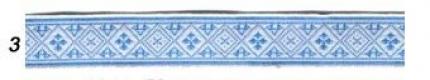 """Лента отд. жаккард """"Засеянное поле""""  6714-3, голубая, 18 мм"""