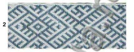 "Лента отд. жаккард ""Солнечная"" 9333-2, сине-белая, 5 см"