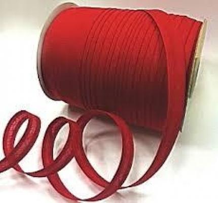 Косая бейка красная, хб, 1,5 см