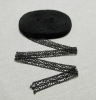 Кружево чёрное, 20 мм (рис.22, 011)