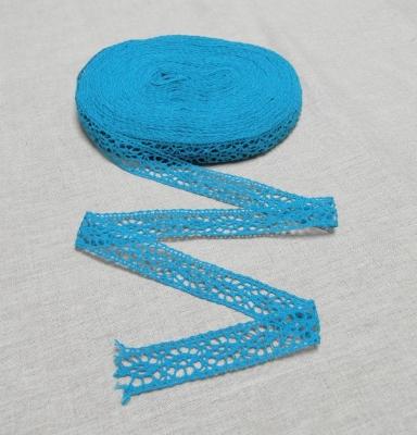 Кружево голубое 2 см