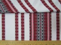 Ткань узорная Алатырь красный