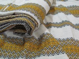 Ткань узорная ЗАБАВА жёлтая