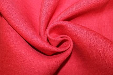 Лён костюмный красный (0/1180) ш145/пл170, л100%