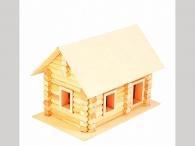 Деревянный домик-конструктор «Бревенчатый сруб» 122 элем., в картоне_0
