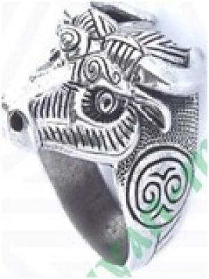 Кольцо Бык   РУ-К2.046 (оберег, посеребрение)