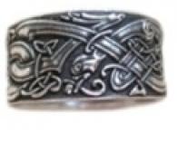 Кольцо Псы кельтские    РУ-К1.018   малое (оберег, латунь)_0