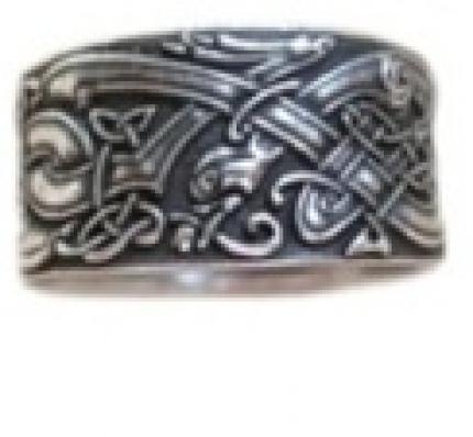 Кольцо Псы кельтские    РУ-К1.018   малое (оберег, латунь)