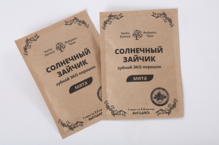 Зубной ЭКО порошок «Солнечный зайчик» МЯТА, сменный блок, 20 гр/50 мл