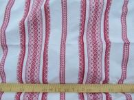 Ткань узорная Миланья малиновая на белом