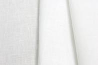 Лён белый костюмно-плательный умягченный (0/0), ш150/пл150