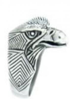 Кольцо Орёл РУ-К2.005 (оберег, посеребрение)