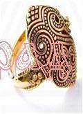 Кольцо Крин (росток)  РУ-К1.036 (оберег, посеребрение)
