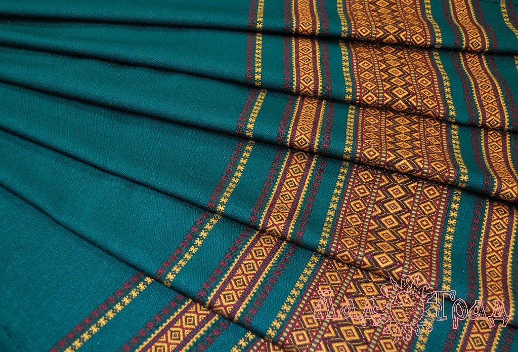 Ткань узорная Сказка бирюзовая