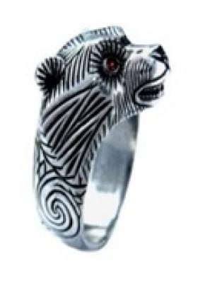 Кольцо Медведь малый  РУ-К2.011 (оберег, латунь)