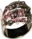 Кольцо Грифы РУ-К1.006  малое (оберег, латунь)_1