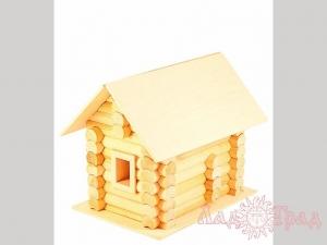Деревянный домик-конструктор «Избушка» 82 элем, в картоне_1