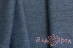 Лён костюмный синий меланж (1/386) ш150/пл190_1