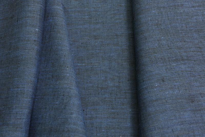 Лён костюмный синий меланж (1/386) ш150/пл190