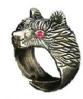 Кольцо Медведь большой РУ-К3.010 (оберег, латунь)_0