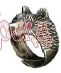 Кольцо Медведь большой РУ-К3.010 (оберег, латунь)_1
