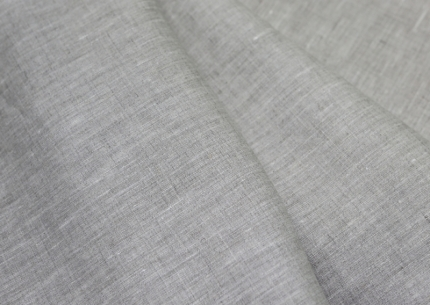 Лён платьевой серый небелёный (0/330) ш145/пл160
