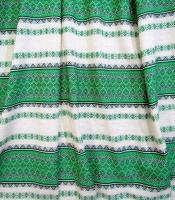Ткань узорная ЛАДУШКА зелёная