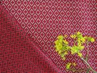 Ткань узорная Богатушка красная