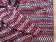 Ткань узорная Отрада бордо