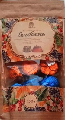 """Мармелад """"Ягодень"""" в шоколадной глазури, 150 гр"""