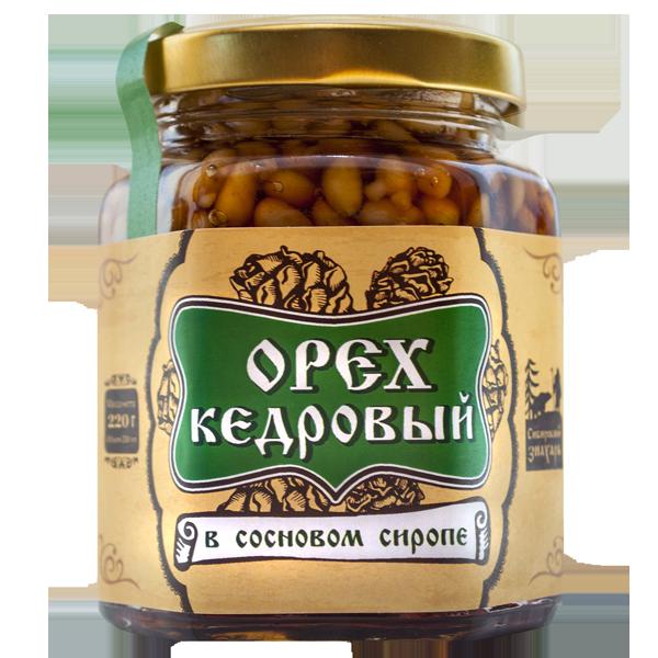 Ядро кедрового ореха в сосновом сиропе, Сиб.знахарь, 220 гр