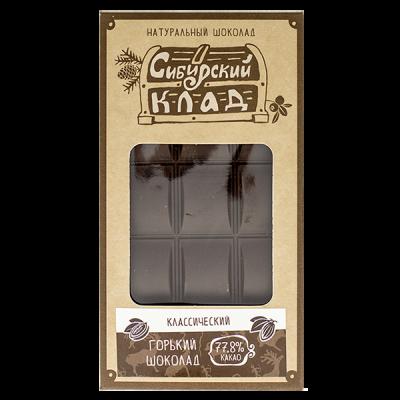 Горький шоколад классический, 100 гр.