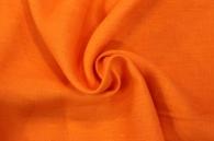 Лён костюмный оранжевый яркий (0/392) ш150/пл185_0
