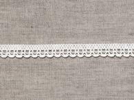 Тесьма кружевная отделочная, 12мм, белый, 6993