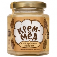 Крем-мёд с кедровым орехом, 220 гр