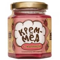 Крем-мёд с малиной, 220 гр