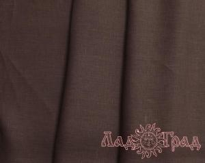 Лён костюмный тёмно-коричневый (0/551), ш145/пл170_1