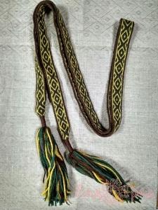Пояс Жёлто-зелёный с коричневым_1
