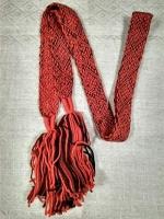 Пояс Одолень-трава красно-чёрный