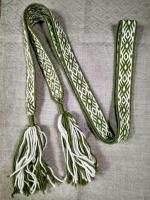 Пояс Зелёный Орепей на белом