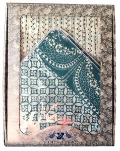 Комплект Постельного Белья 2 сп, Пэчворк бирюза лён (нав. 50*70)