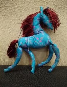 Лошадка синяя (шёлк)