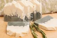 Природное мыло Голубая и белая глина